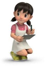 gambar Shizuka 3D teman Doraemon