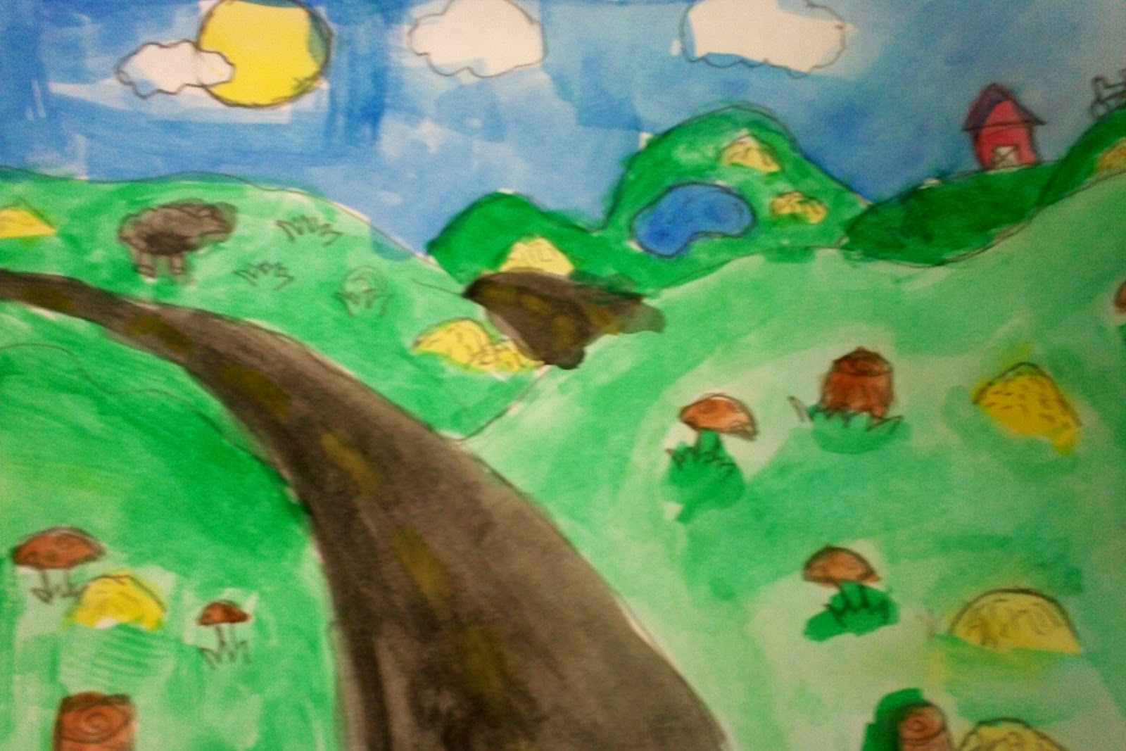 Sept+12+007  Th Grade Art Landscape on science clipart, crystal gems rocks, painting effects, projects easy crafts, salvador elementary, lessons flowers,