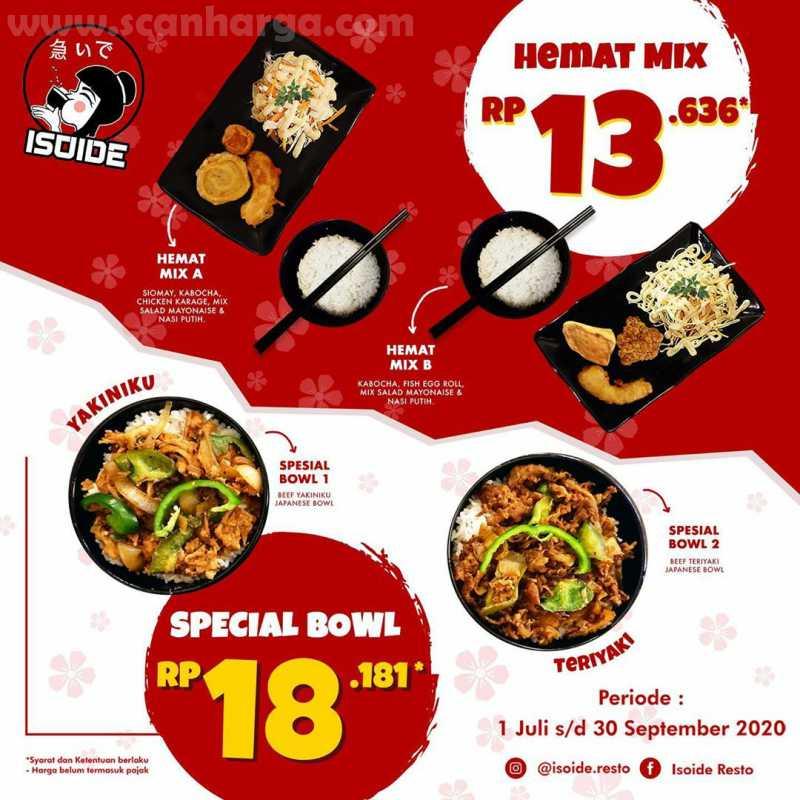 Promo Isoide Paket Hemat Mix + Spesial Bowl harga mulai Rp 16.363
