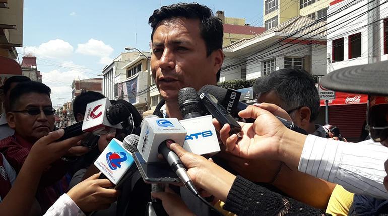 El asambleísta departamental de Cochabamba, Javier Castellón /  LOS TIEMPOS