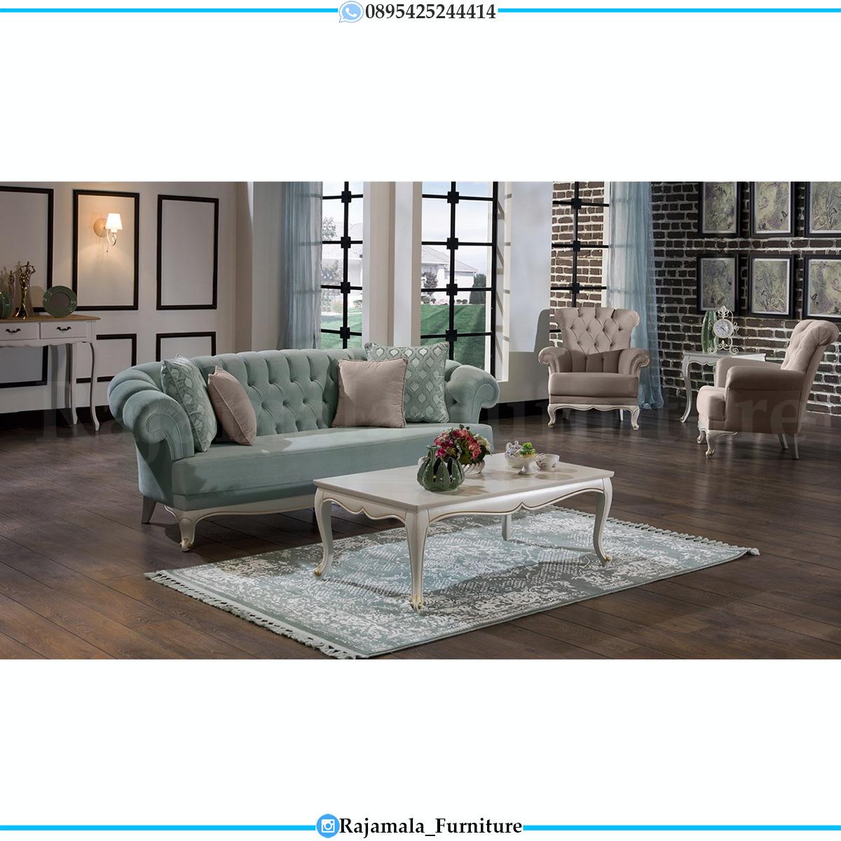 Sofa Tamu Shabby Chic Minimalis Design Putih Duco Luxury RM-0625