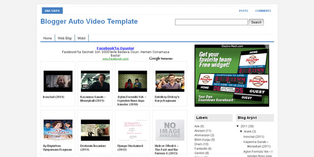 FREE Auto Video Blogger Template