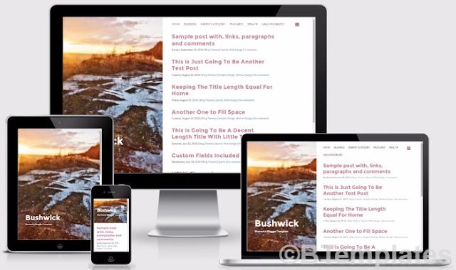 Bushwick Responsive Blogger Template Free Download