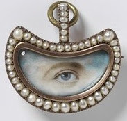 A 19th century eye miniature painting, part of the V&A Collection