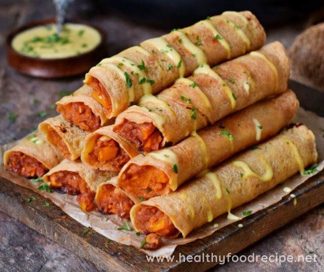 EASY BUFFALO CHICKPEA TAQUITOS
