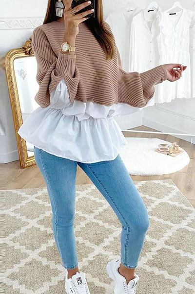 Fall in love this winter season with these cozy sweater outfits. Winter Fashion via higiggle.com #sweater #fashion #knit