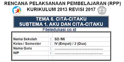 Revisi Terbaru Rpp K 2013 Kelas 4 Semester 2 Tema 6 File Edukasi
