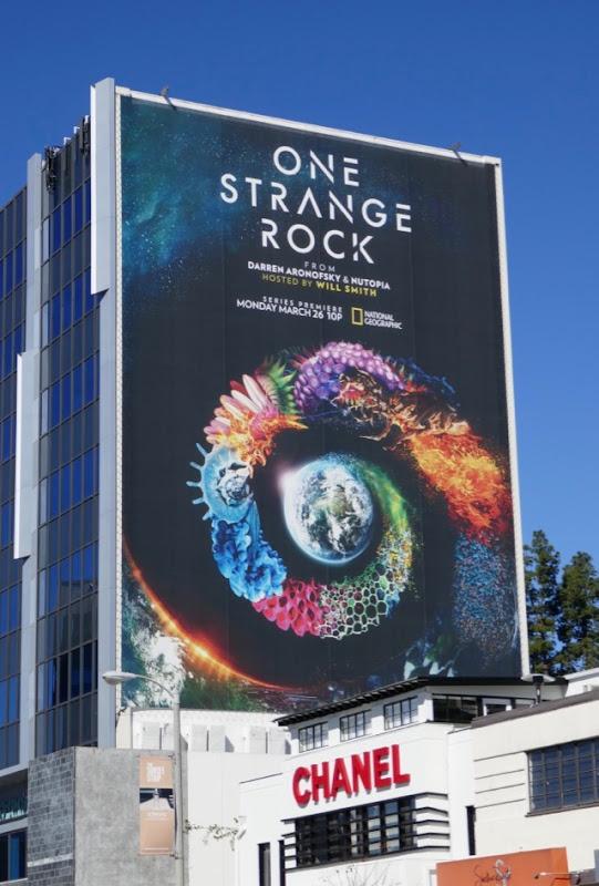 Giant One Strange Rock series premiere billboard