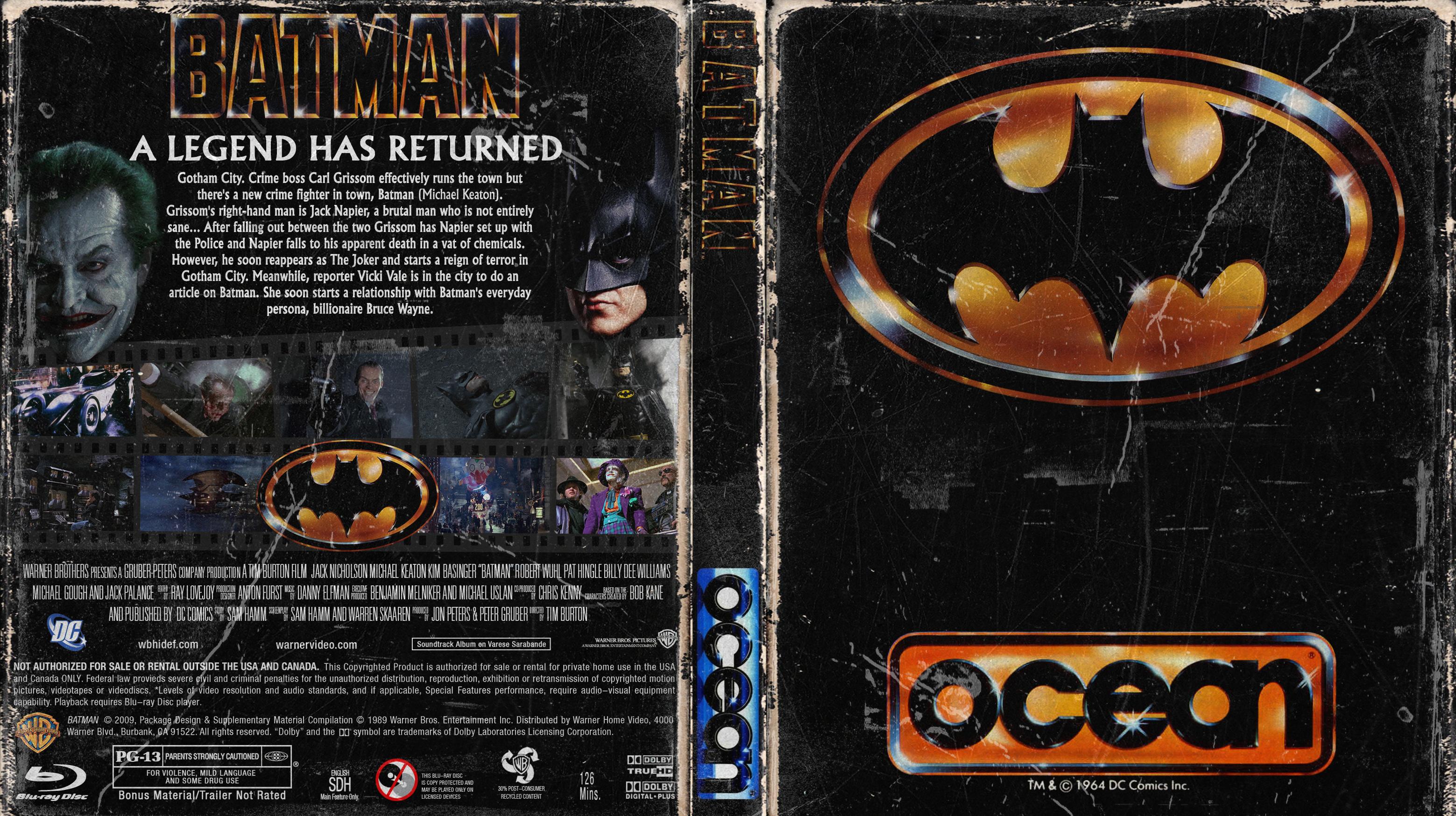 Batman 1989 ZX Spectrum Edition Bluray Cover   Cover Addict - Free DVD, Bluray Covers ...