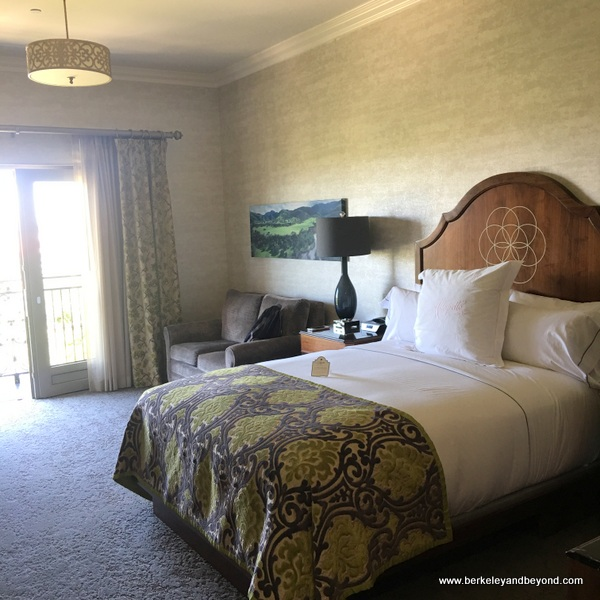 guest room at Allegretto Vineyard Resort in Paso Robles, California
