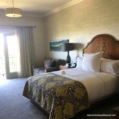 guest room at Allegretto Vineyard Resort in Paso Robles, California