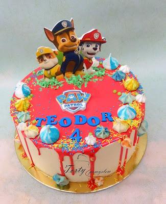 tort drip cake psi patrol
