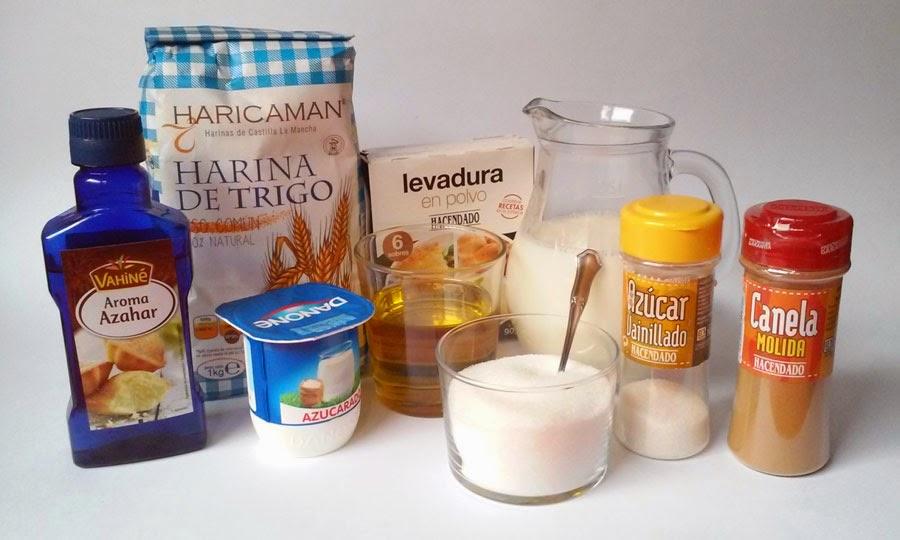 ingredientes bizcocho de yogur sin huevo