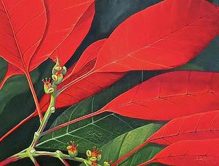 pinturas-con-flores-en-primer-plato-realismo cuadros-realistas-flores-primer-plano
