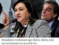 Kátia Abreu está sendo inconveniente ao assediá-los para votarem contra o impeachment