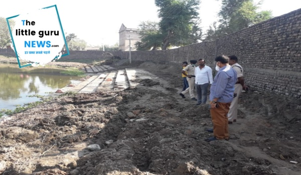 SDM inspection Chakia Chhath Ghat