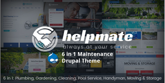 Helpmate - 6 in 1 Maintenance Drupal Theme | $48,00