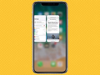 Cách chuyển đổi giữa các ứng dụng trên iPhone X