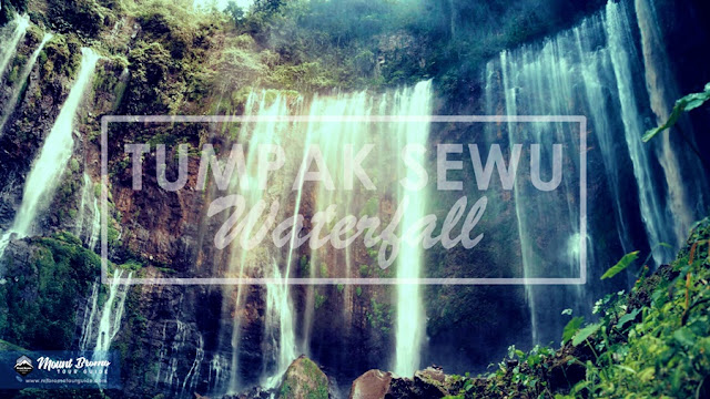 Tumpak Sewu Waterfall Tourist Attraction in Lumajang