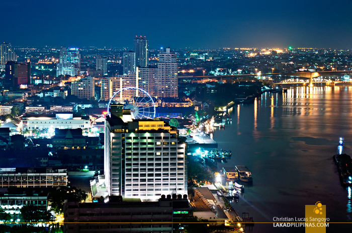 View from Chatrium Hotel Riverside in Bangkok Thailand