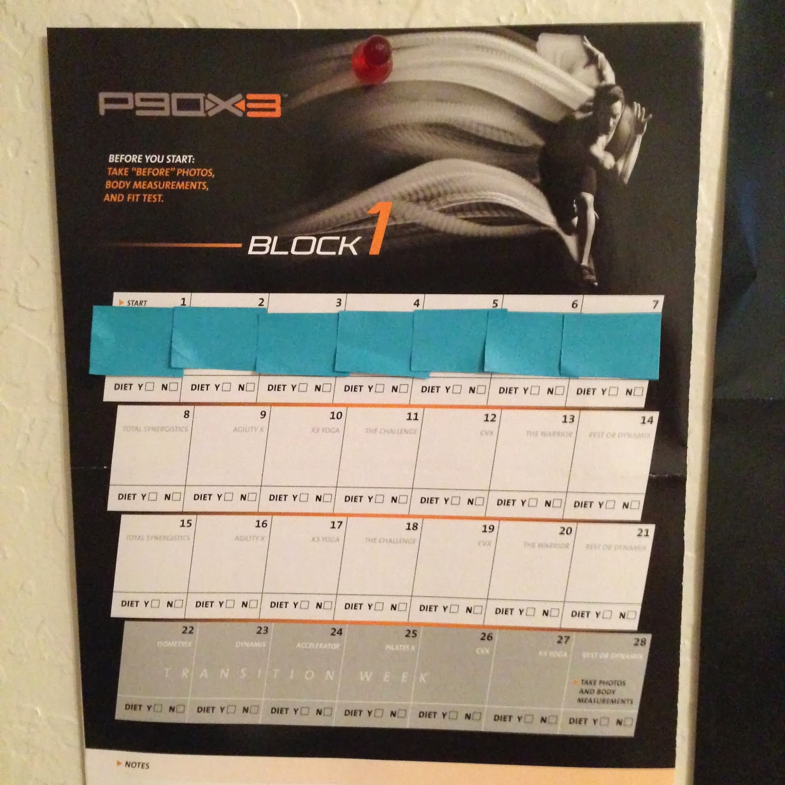 Confessions of a Closet Athlete: P90X3 - Start of Week 2
