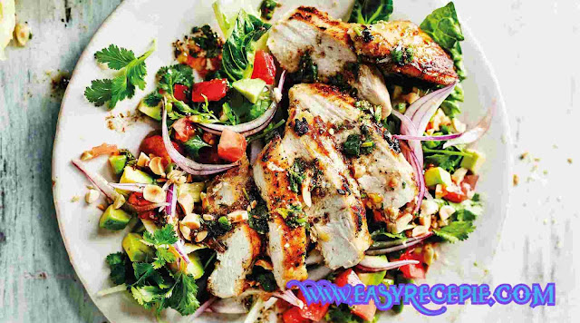 Asian Sesame Healthy Chicken Salad Recipe at Home