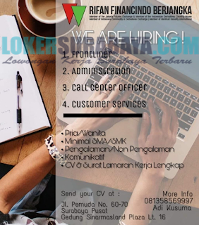 We Are Hiring di Rifan Financindo Berjangka Surabaya Terbaru Mei 2019