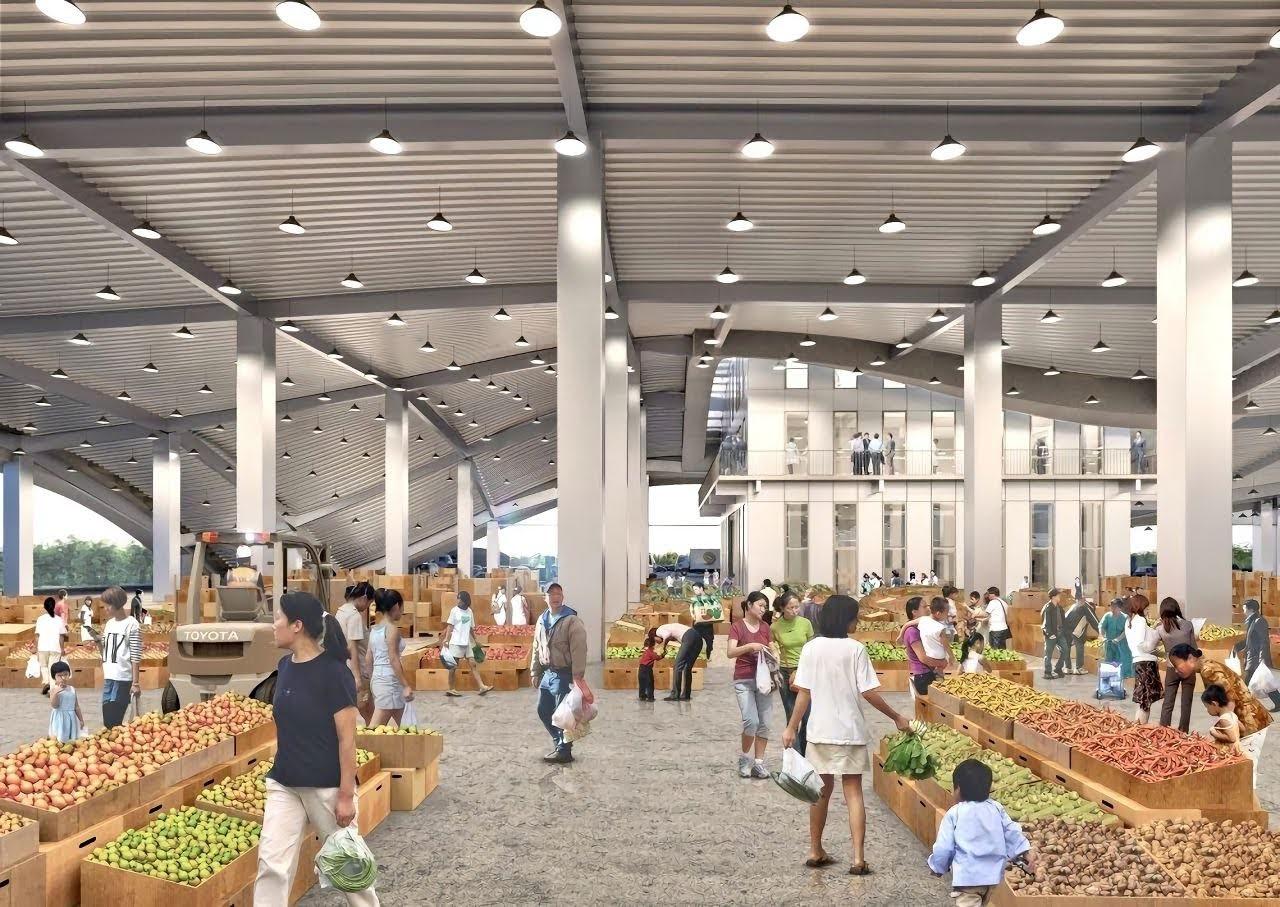 號稱全國最美!新化果菜市場進度97%|預計2022/6月完工|盼成為旅遊亮點