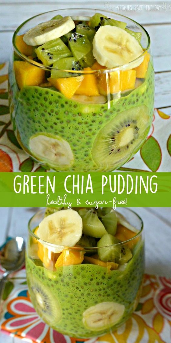 GREEN CHIA PUDDING (HEALTHY AND SUGAR-FREE) #recipes #healthyfoodrecipes #food #foodporn #healthy #yummy #instafood #foodie #delicious #dinner #breakfast #dessert #lunch #vegan #cake #eatclean #homemade #diet #healthyfood #cleaneating #foodstagram