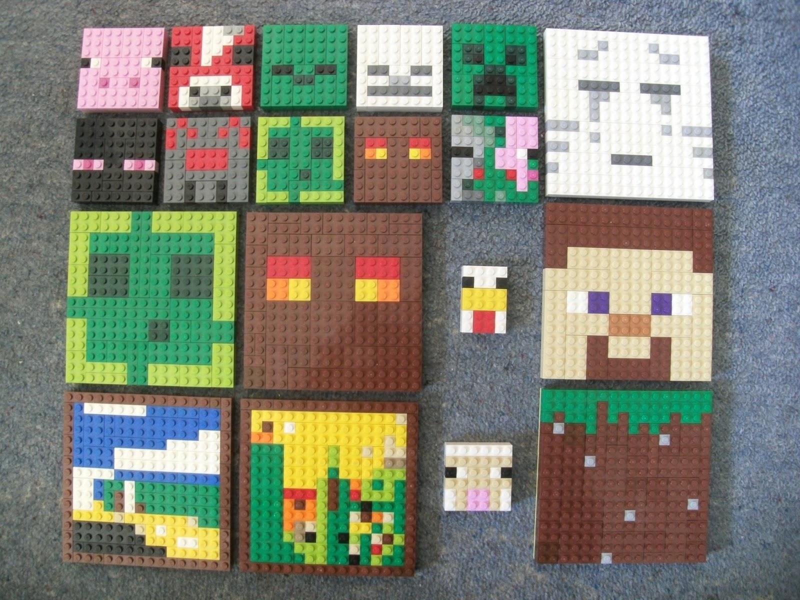 Chickenbricks More Lego Pixel Art Minecraft Mob Heads Extras