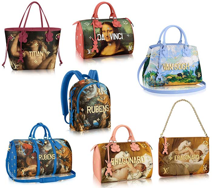 Louis Vuitton x Jeff Koons Artsy Bags Collection
