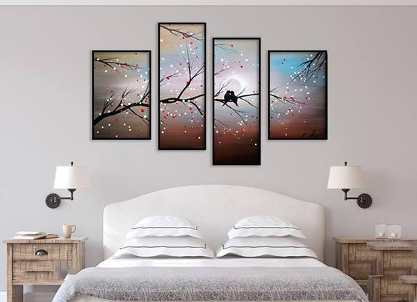 Top 5 bức tranh trang trí phòng ngủ cho không gian lãng mạn