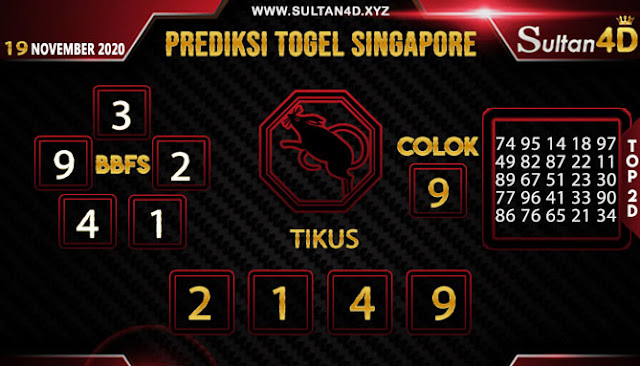 PREDIKSI TOGEL SINGAPORE SULTAN4D 19 NOVEMBER 2020