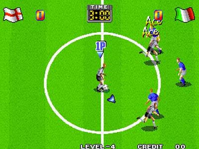 Inghilterra vs Italia in ''Super Sidekicks'': il calcio SNK in sala giochi