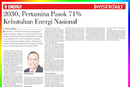 2030, Pertamina Supply 71% of National Energy Needs