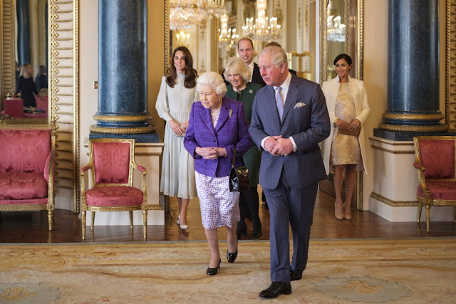 Przyjęcie na cześć księcia Karola w Pałacu Buckingham