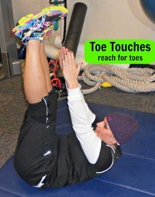 toe touch crunch