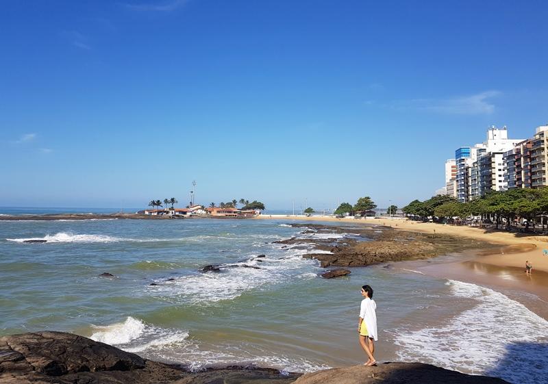 Praia das Castanheiras, centro, Guarapari