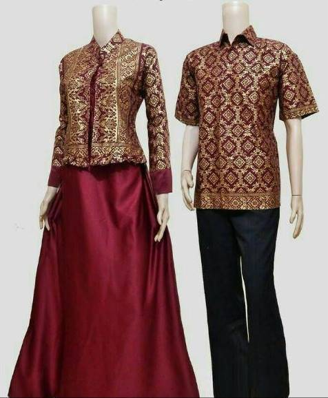 10 Model Baju Batik Sarimbit Modern Terbaru 2018: 10 Model Baju Batik Sarimbit Modern Terbaru 2018