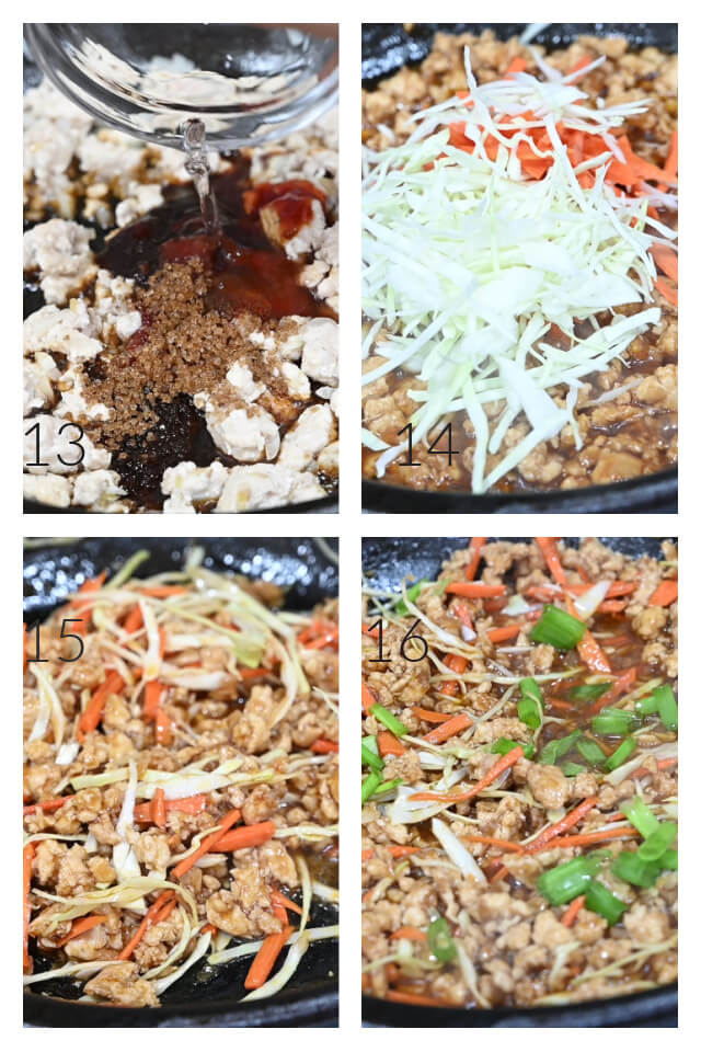 how to make the easy Thai chicken lettuce wraps
