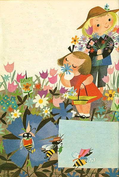 Mural Wallpaper Kids Girls Eye Likey Mary Blair Vintage Disney Series