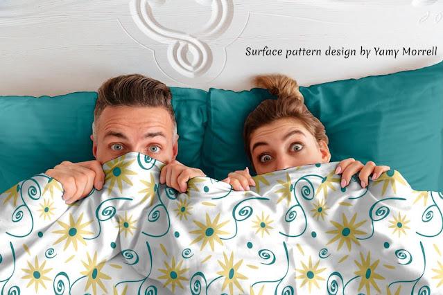Vintage Flower-pattern-design-on-brown- comforter