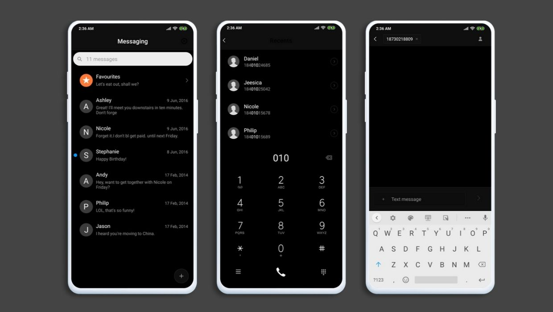 Black Windows 10 Mobile MIUI Theme
