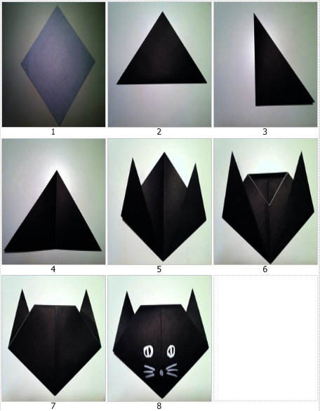 origami binatang kucing
