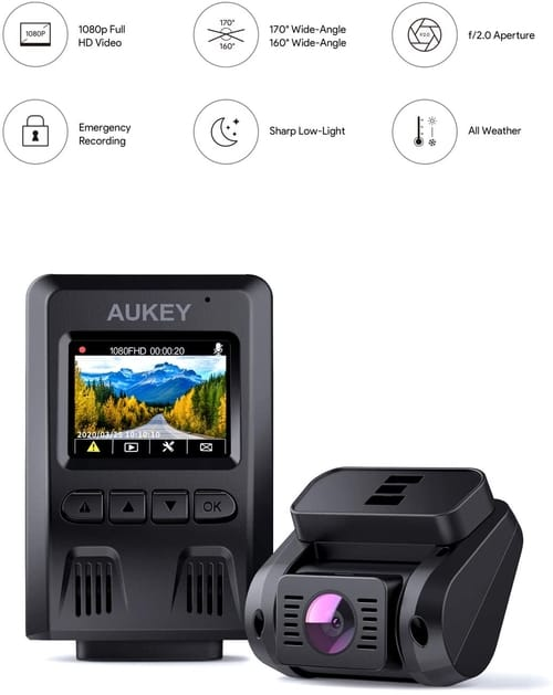 Review AUKEY DR02D-USA Dual Dash Cam Car Camera