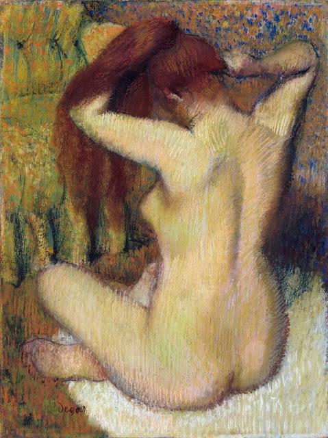 Эдгар Дега - Женщина, расчёсывающая свои волосы (1888-1890)