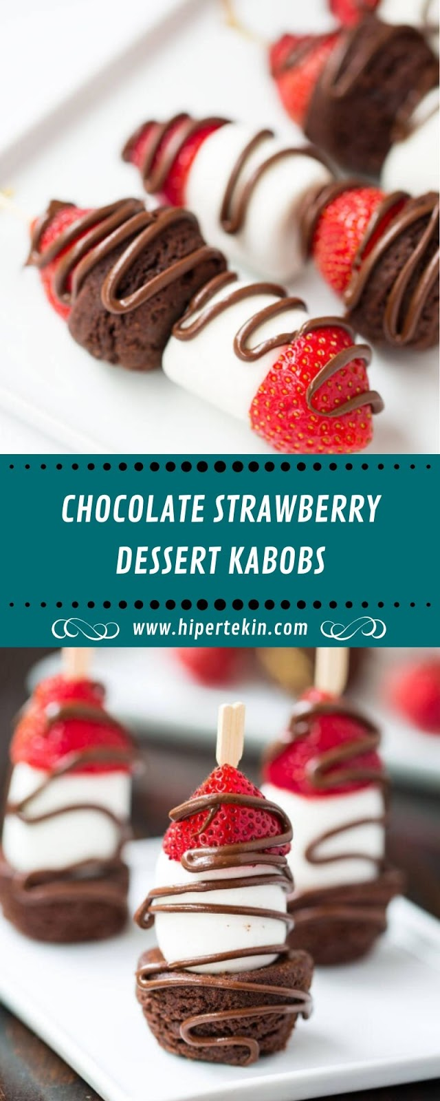 CHOCOLATE STRAWBERRY DESSERT KABOBS