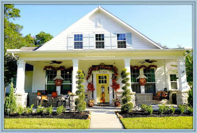 Farmhouse Cottage Style Fall Front Porch-Suburban Farmhouse-From My Front Porch To Yours