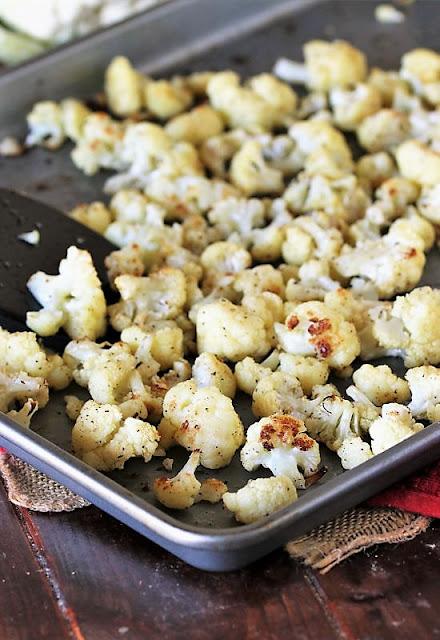 Baking Pan of Roasted Cauliflower Image