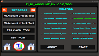 TI Mi Account Unlock Tool